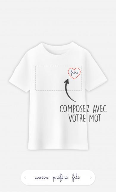 T-Shirt Enfant Cœur à personnaliser