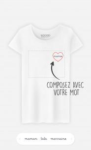 T-Shirt Femme Cœur à personnaliser