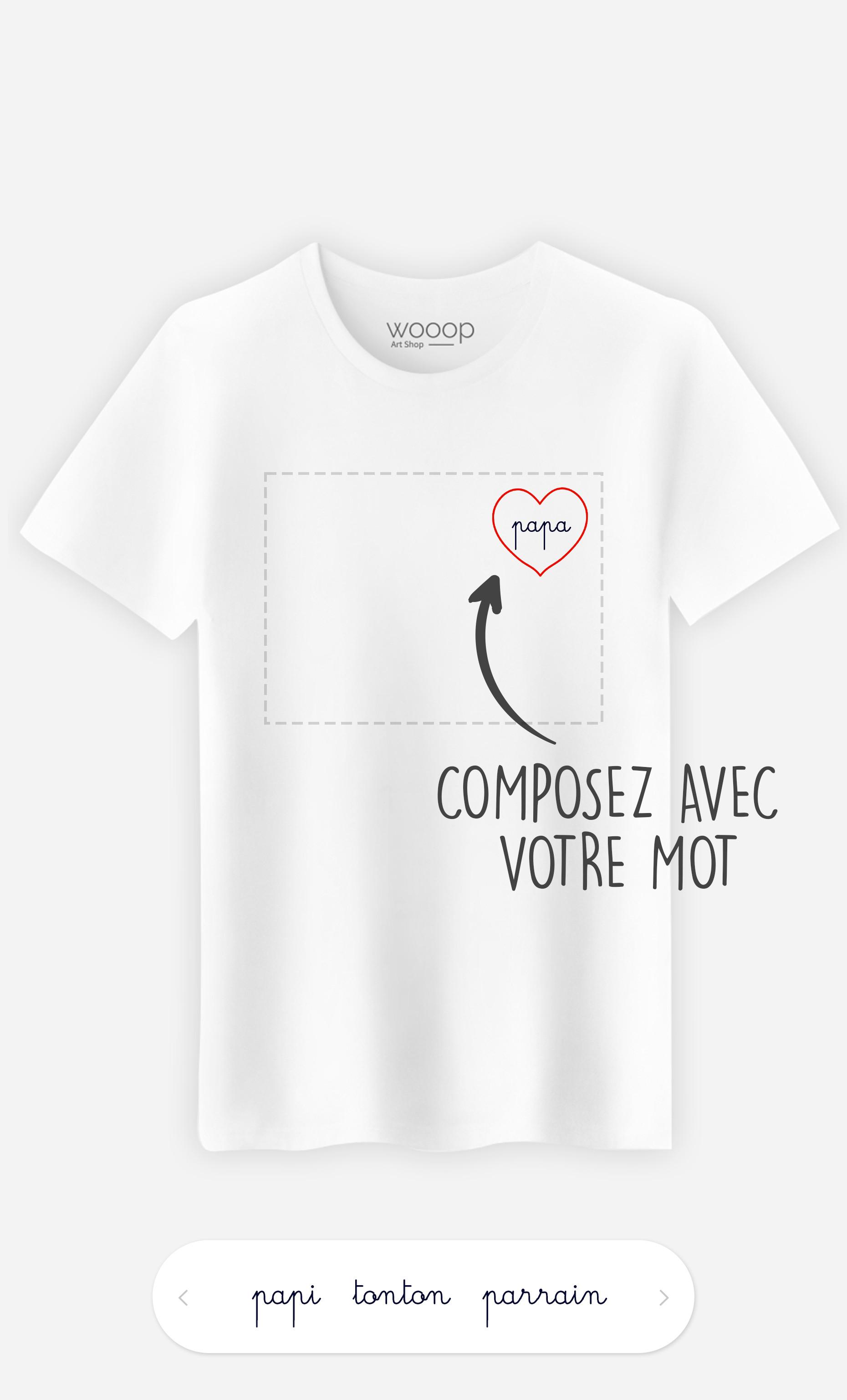 T-Shirt Homme Cœur à personnaliser
