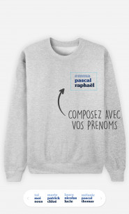 Sweatshirt Femme 3 Prénoms à personnaliser