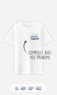 T-Shirt Enfant 3 Prénoms à personnaliser