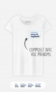 T-Shirt Femme 3 Prénoms à personnaliser