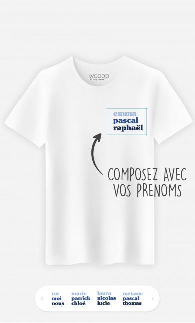 T-Shirt Homme 3 Prénoms à personnaliser