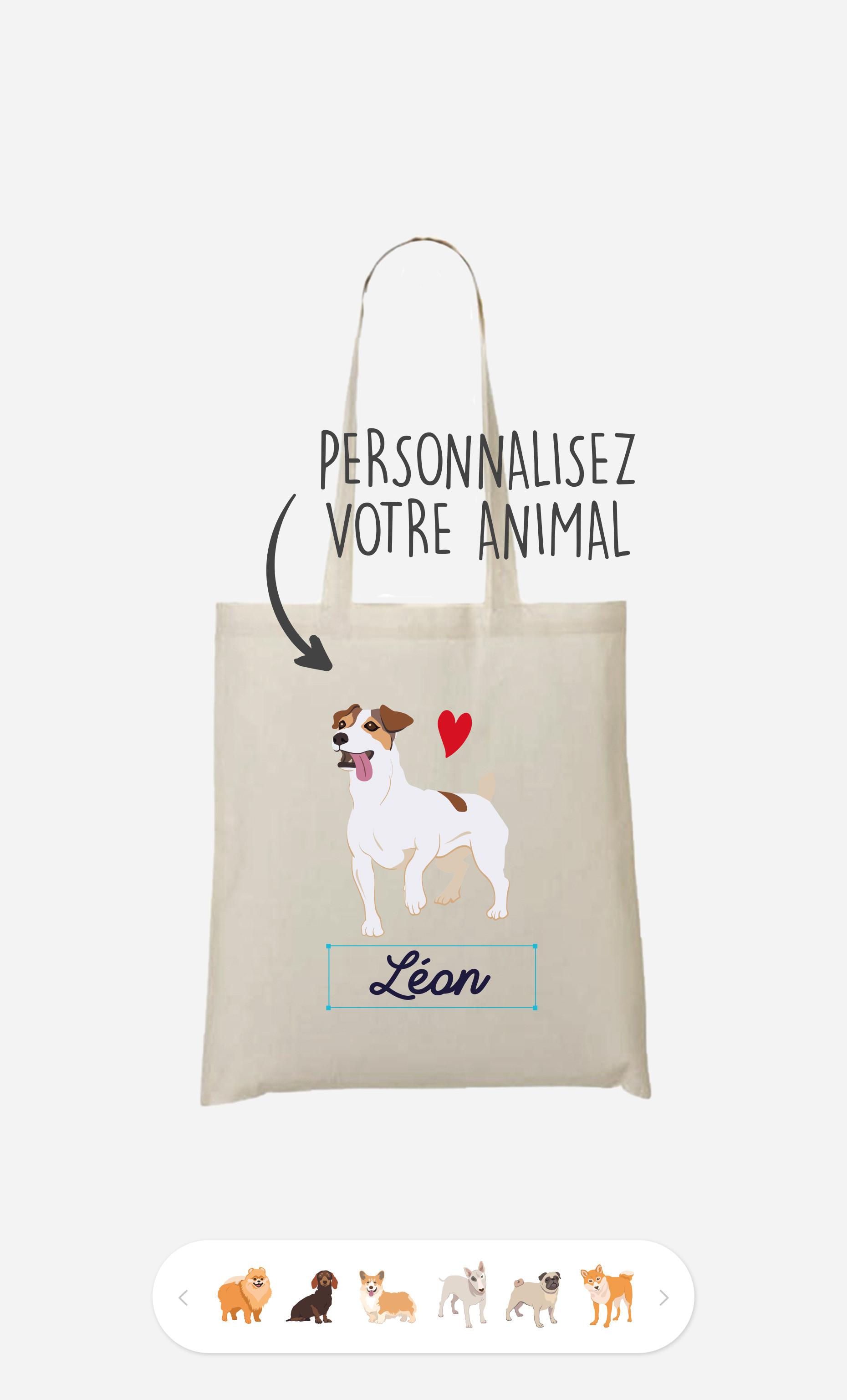 Tote Bag Animal De Compagnie à personnaliser