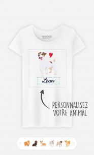 T-Shirt Femme Animal De Compagnie à personnaliser