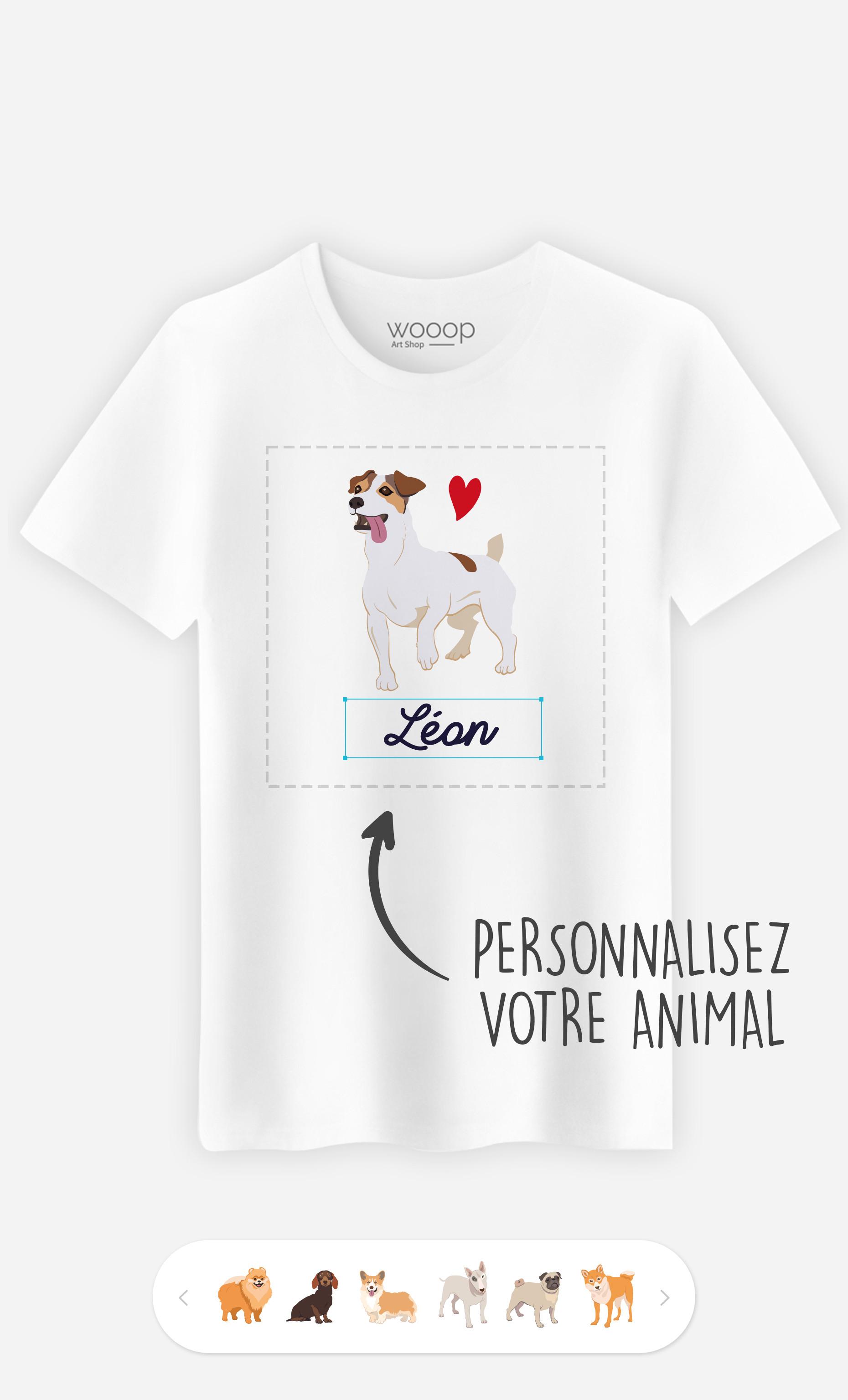 T-Shirt Homme Animal De Compagnie à personnaliser