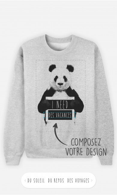Sweatshirt Homme I Need à personnaliser