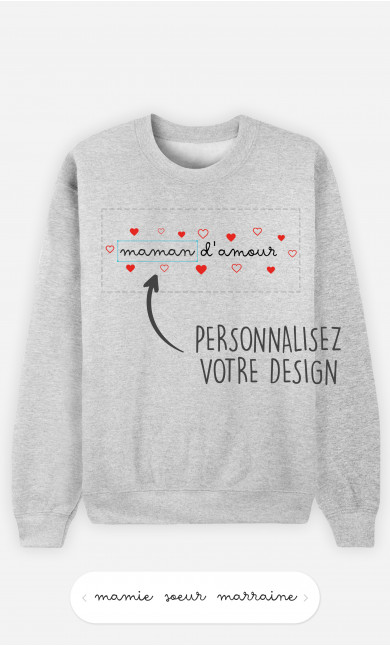 Sweatshirt Femme Amour à personnaliser