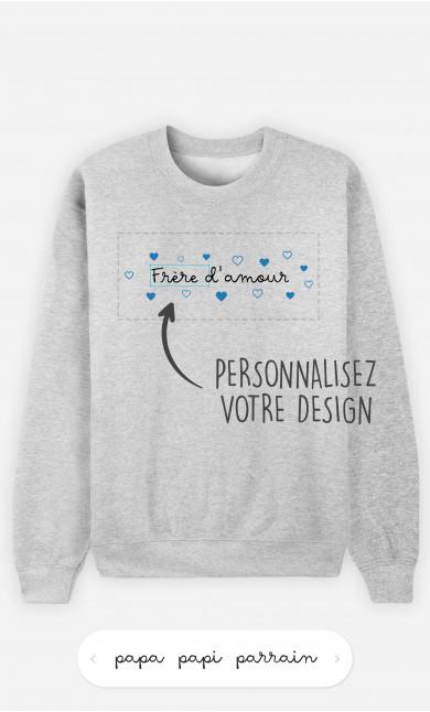 Sweatshirt Homme Amour à personnaliser
