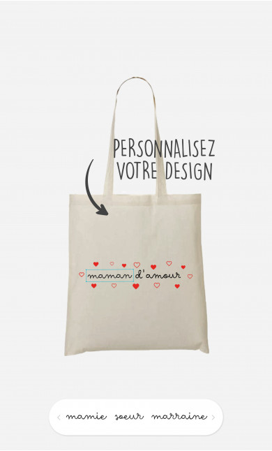 Tote Bag Amour à personnaliser