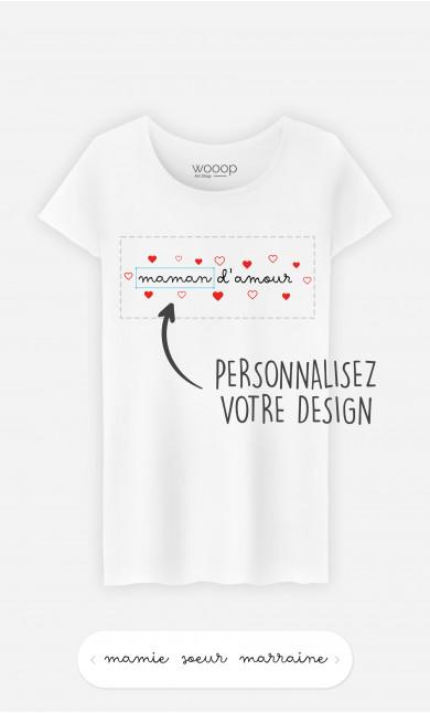 T-Shirt Femme Amour à personnaliser