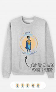 Sweatshirt Femme Super Héro à personnaliser