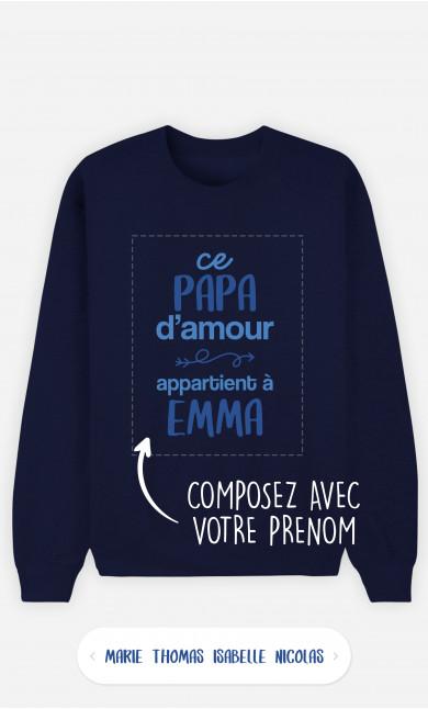 Sweatshirt Homme Ce Papa d'Amour à personnaliser