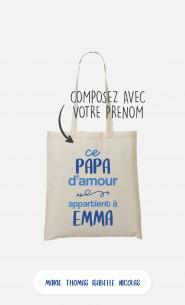 Tote Bag Ce Papa d'Amour à personnaliser