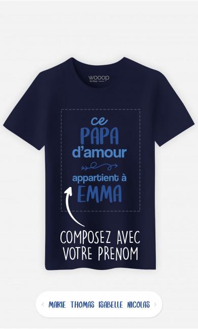 T-Shirt Homme Ce Papa d'Amour à personnaliser