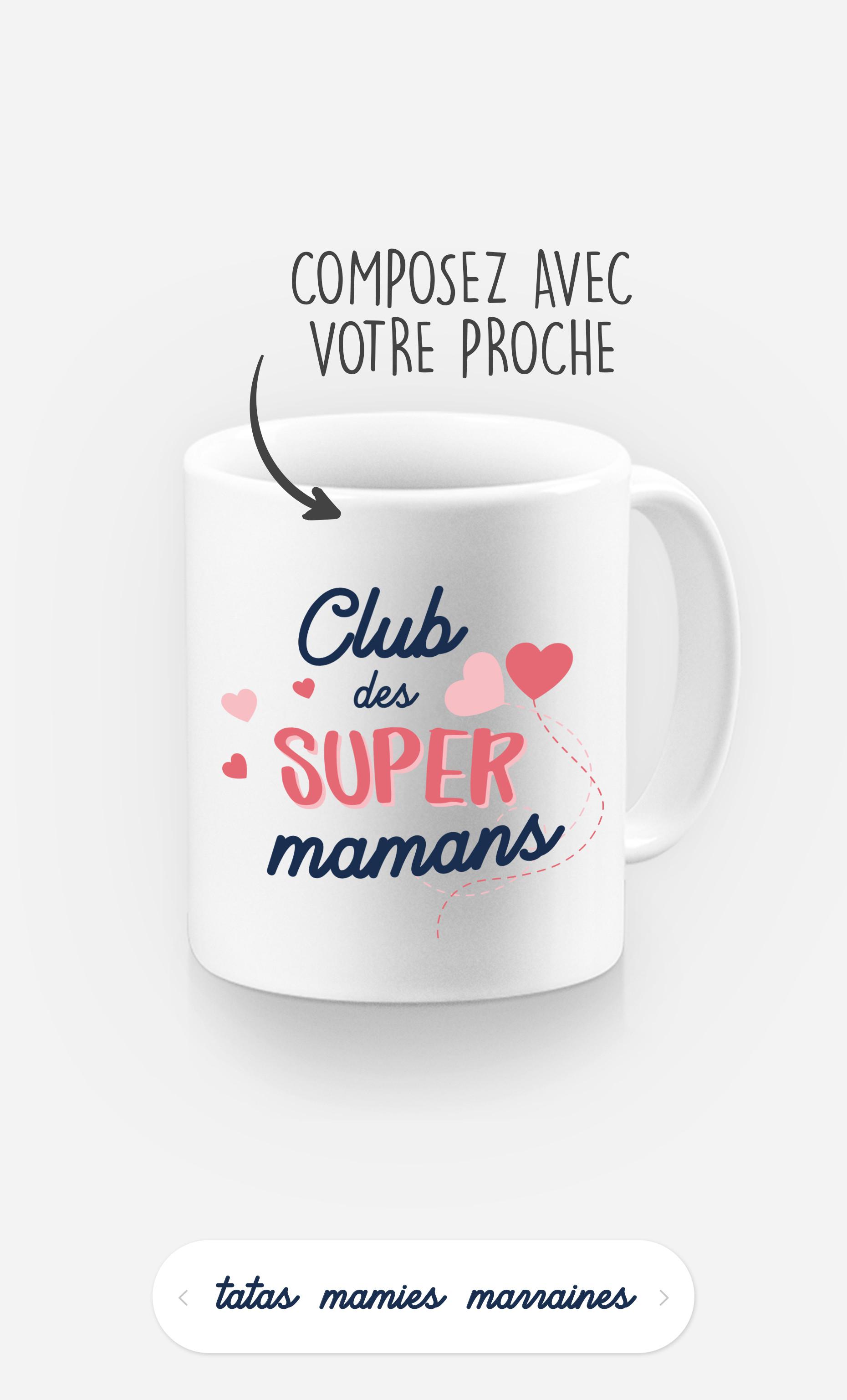 Mug Club Des Supers à personnaliser