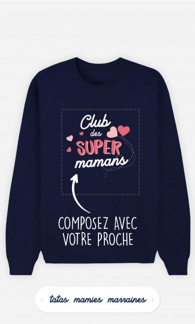 Sweatshirt Femme Club Des Supers à personnaliser