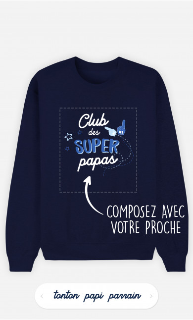 Sweatshirt Homme Club Des Supers à personnaliser