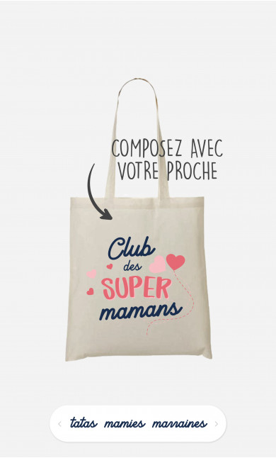 Tote Bag Club Des Supers à personnaliser
