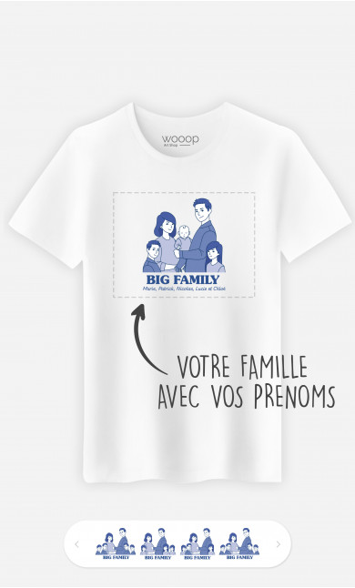 T-Shirt Homme Big Family à personnaliser