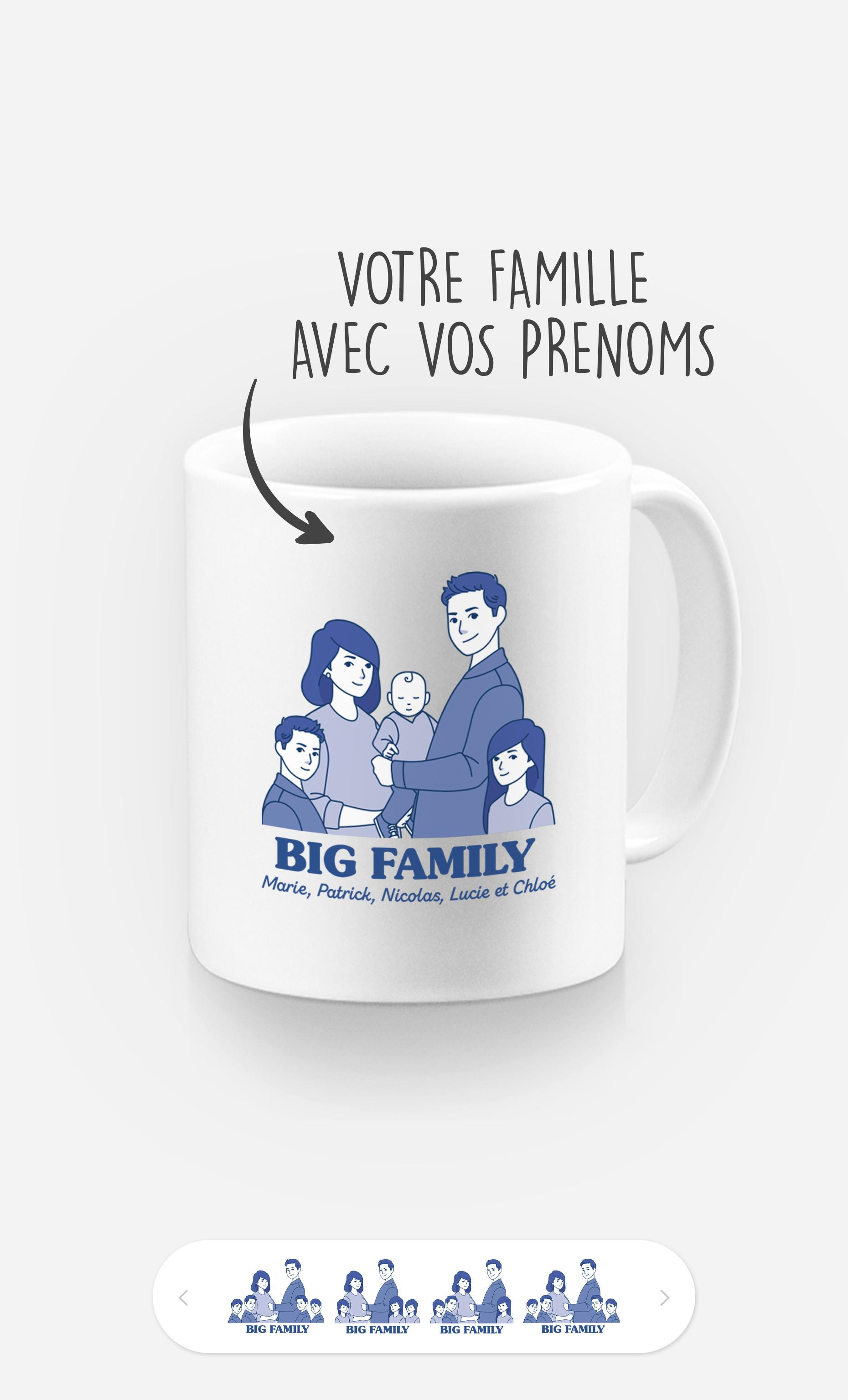 Mug Big Family à personnaliser