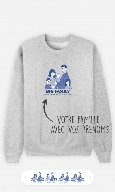 Sweatshirt Homme Big Family à personnaliser