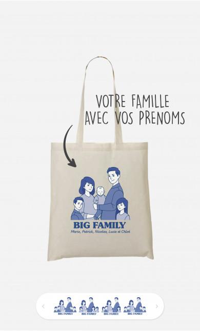 Tote Bag Big Family à personnaliser