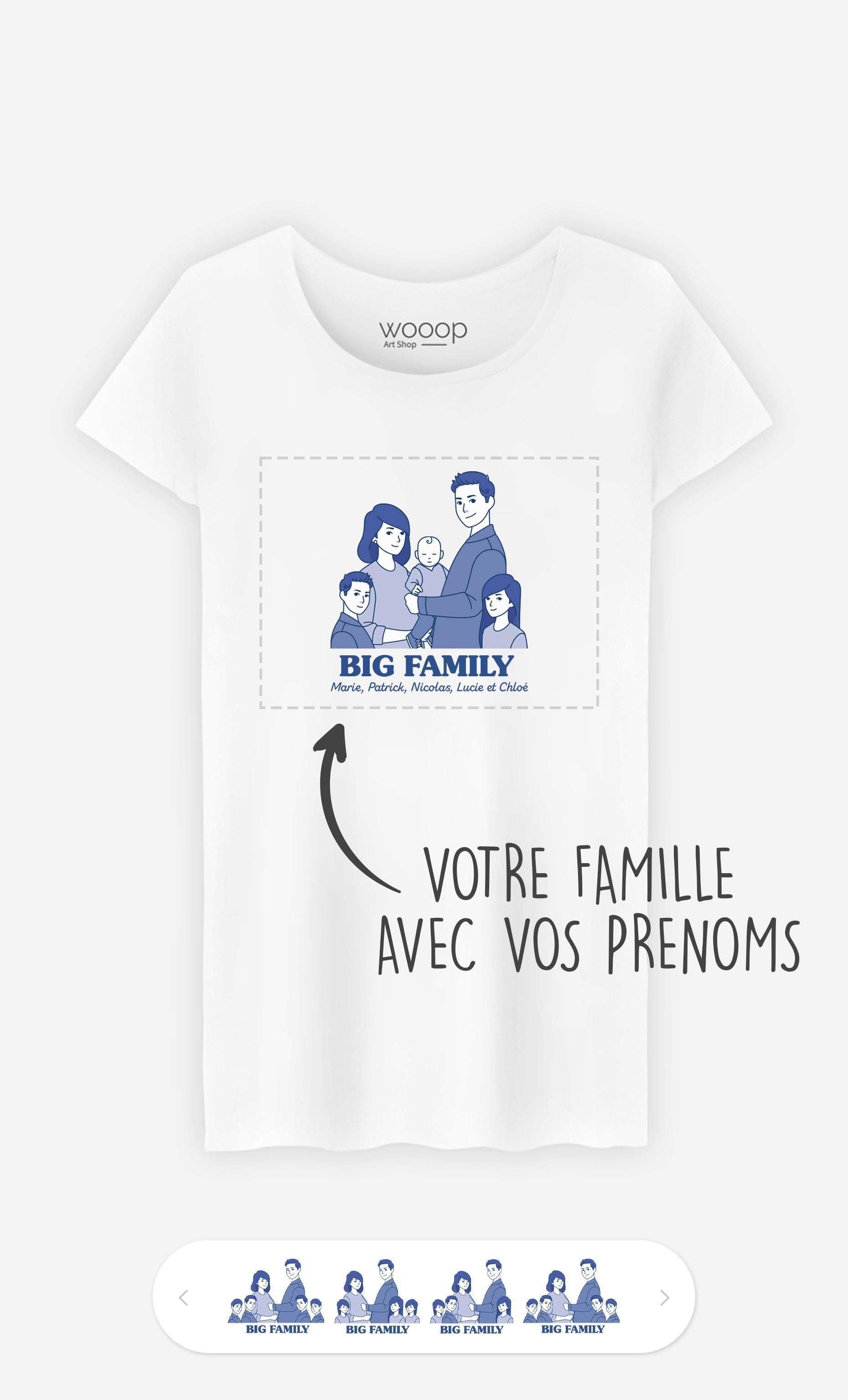 T-Shirt Femme Big Family à personnaliser
