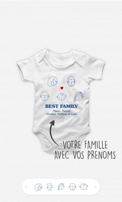 Body Bébé Best Family Visages à personnaliser