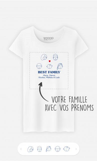 T-Shirt Femme Best Family Visages à personnaliser