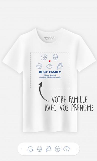 T-Shirt Homme Best Family Visages à personnaliser