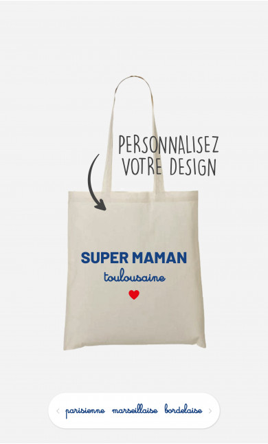 Tote Bag Super Maman Région à personnaliser