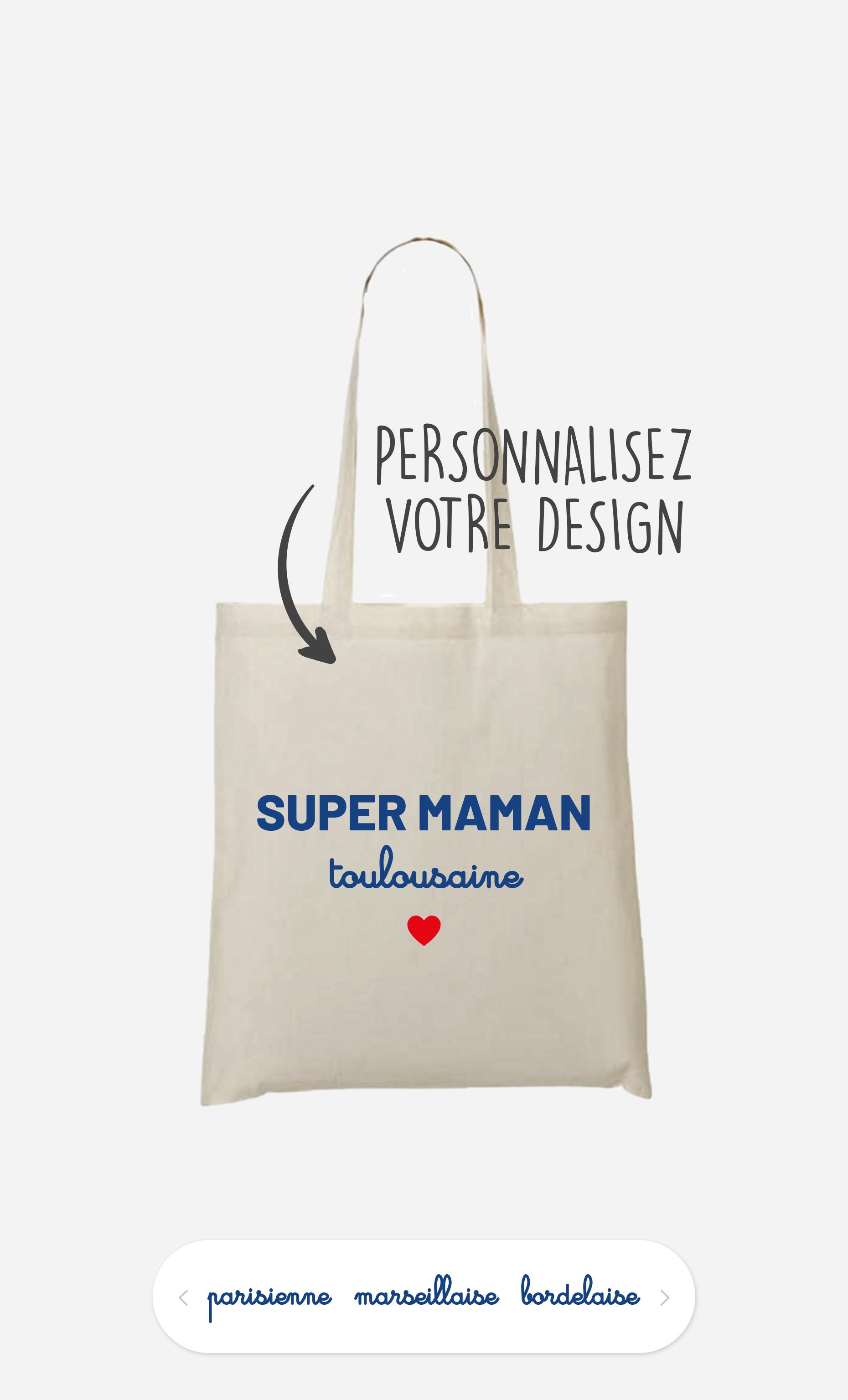 Tote Bag Super Maman Région à personnaliser