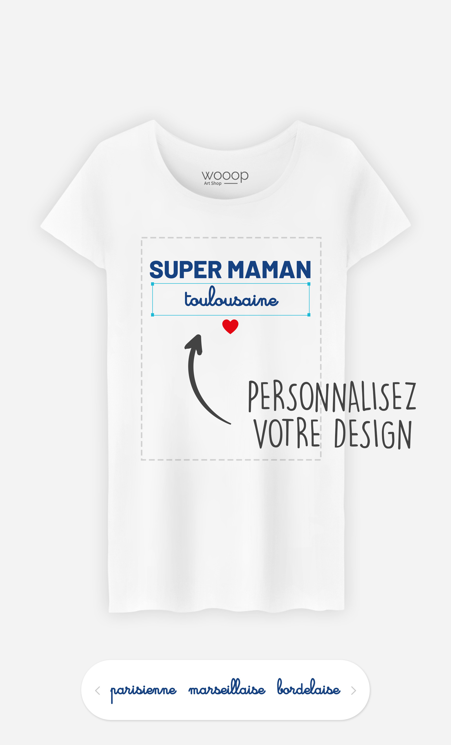 T-Shirt Femme Super Maman Région à personnaliser