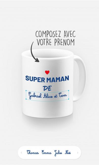 Mug Super Maman de à personnaliser