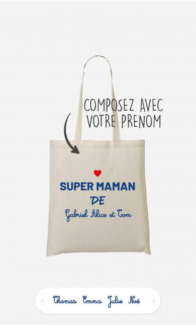 Tote Bag Super Maman de à personnaliser