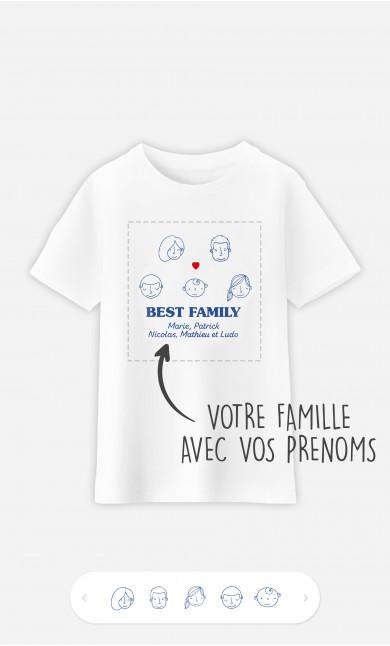 T-Shirt Enfant Best Family Visages à personnaliser