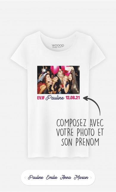 T-Shirt Femme EVJF Photo à personnaliser