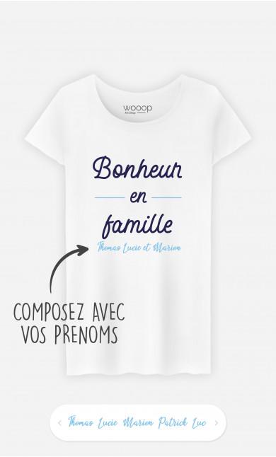 T-Shirt Femme Bonheur En Famille à personnaliser