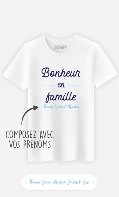 T-Shirt Homme Bonheur En Famille à personnaliser