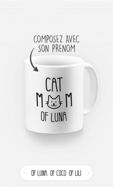 Mug Cat Mom à personnaliser