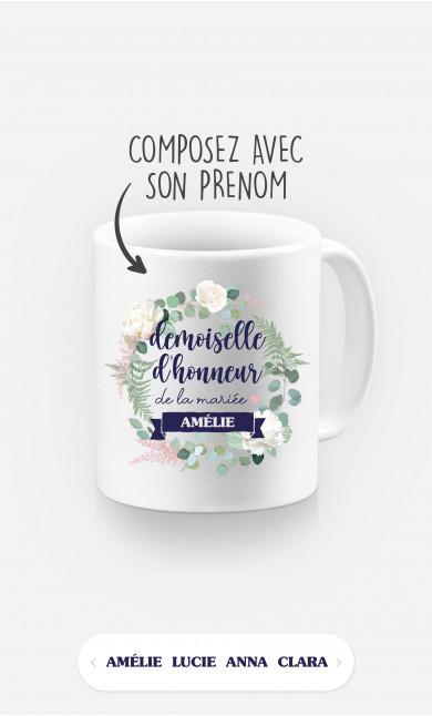Mug Demoiselle d'Honneur à personnaliser