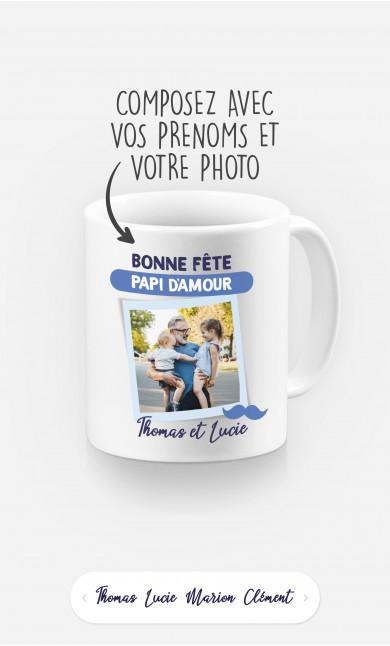 Mug Bonne Fête Papi à personnaliser
