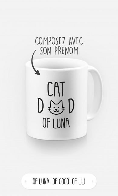Mug Cat Dad à personnaliser