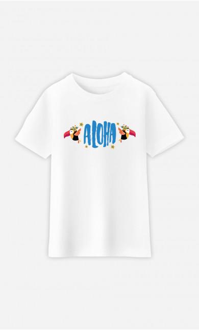 T-Shirt Enfant Aloha Blue