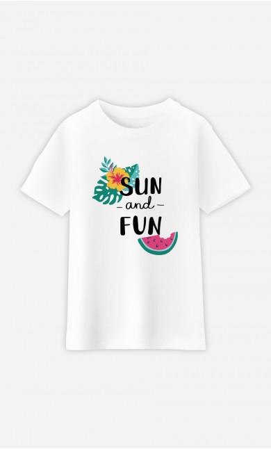 T-Shirt Enfant Sun And Fun