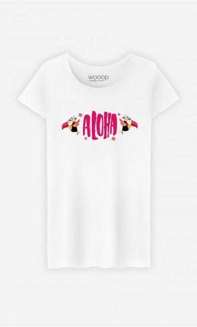 T-Shirt Femme Aloha Pink