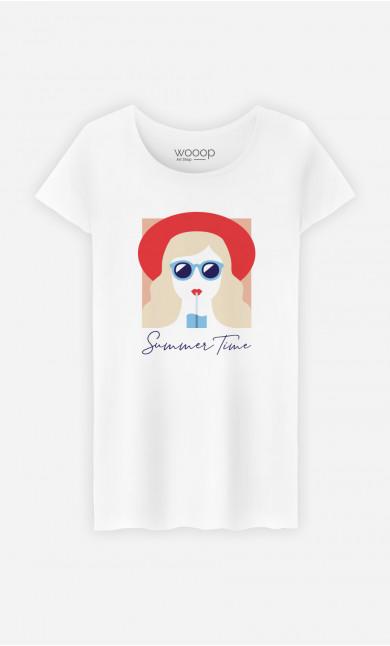 T-Shirt Femme Summer Time Blonde