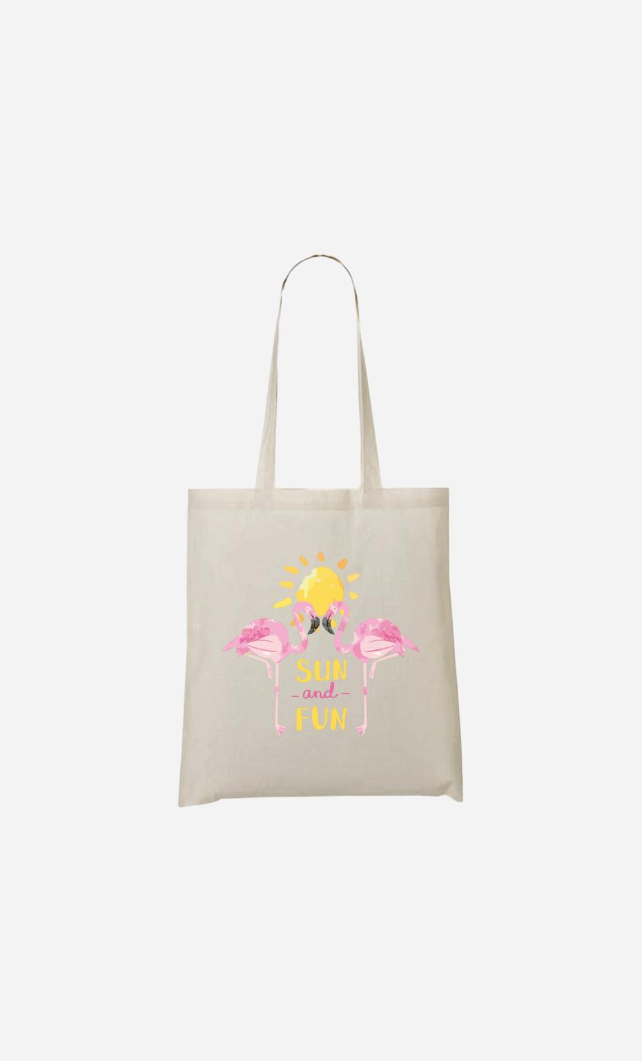 Tote Bag Sun And Fun Flamingo