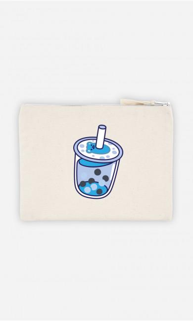 Pochette Bubble Tea Bleu